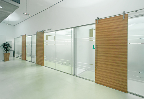 Glass cabins and partition systems by mwe stylepark Interior glass partition systems