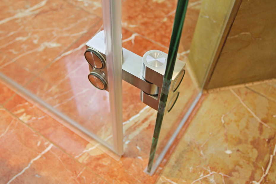 Hinge for Glass Installation