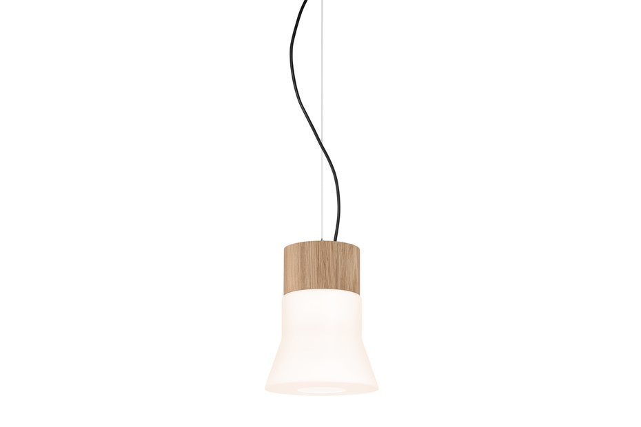 Wood pendant lamp small