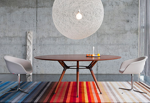 X2 tisch rund von zoom by mobimex stylepark for Esstisch designklassiker