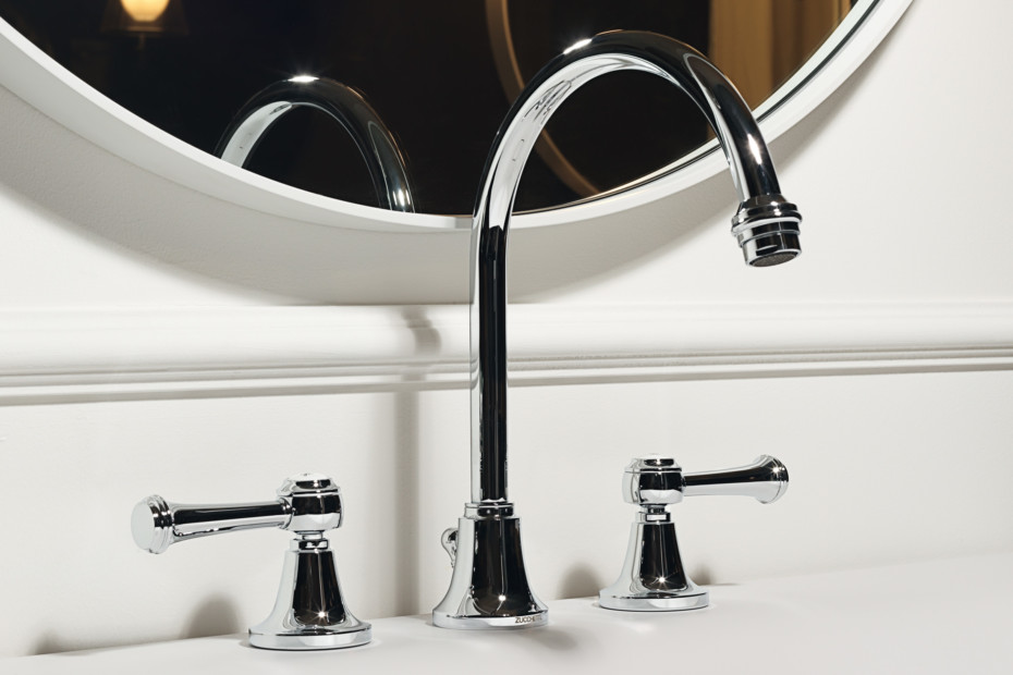 Agorà 3 hole basin mixer high spout