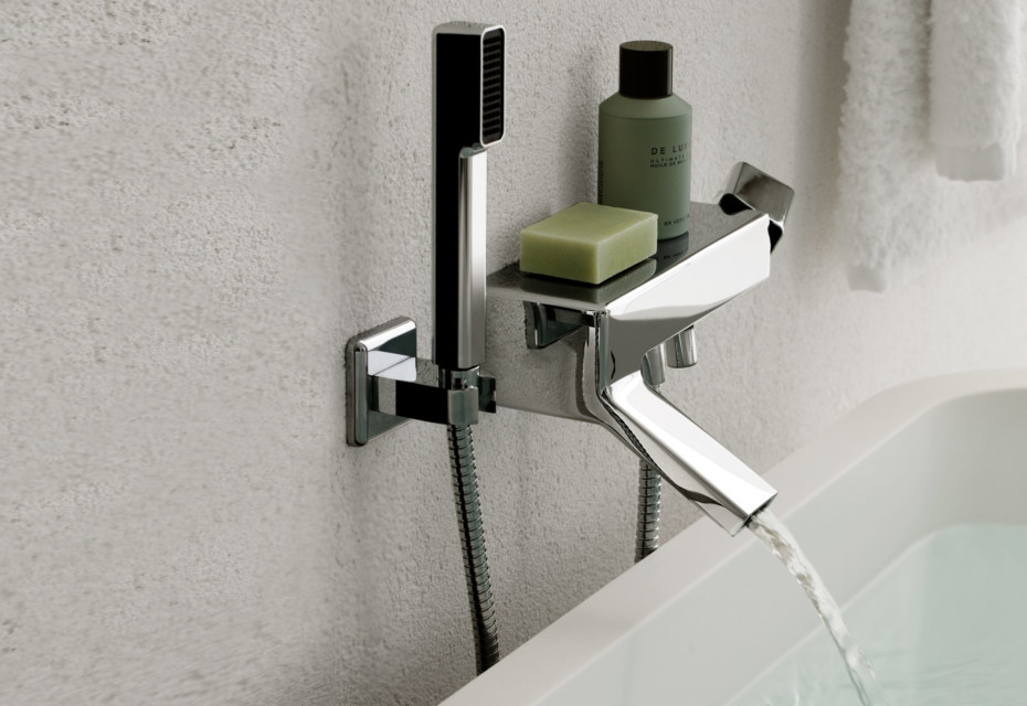 Faraway exposed bath-shower single lever mixer