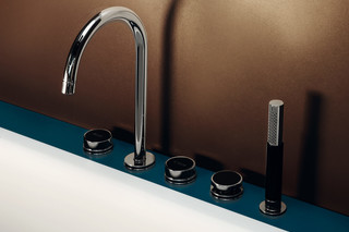 Savoy bath mixer with pull out shower  by  Zucchetti
