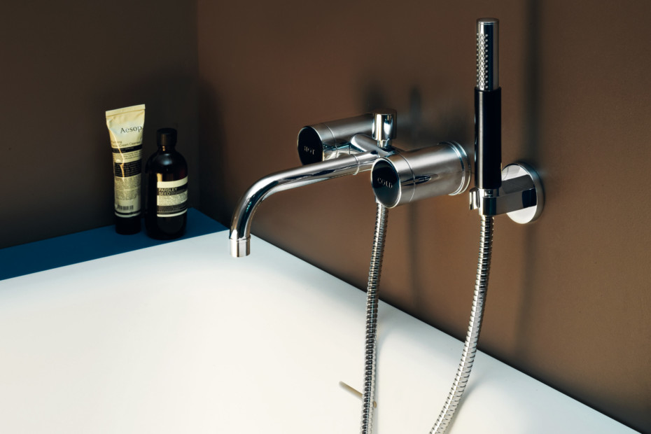 Savoy bath-shower mixer with handshower set