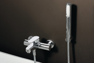 Sun exposed bath-shower single lever mixer  by  Zucchetti