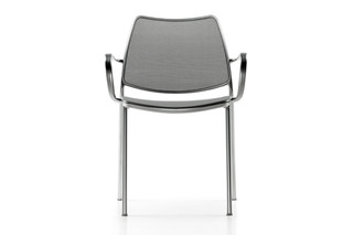 Gas chair with armrests  by  STUA