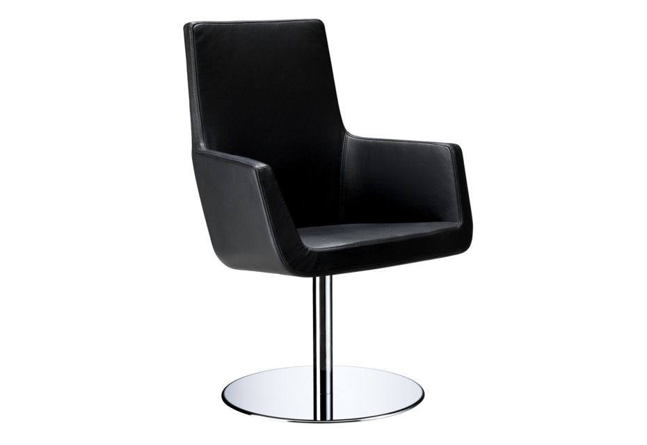 Happy Sessel mit Säulenfuß