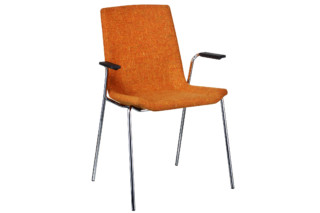 Happy chair with armrests upholstered  by  Swedese