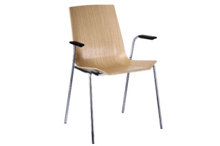 Happy chair with armrests  by  Swedese