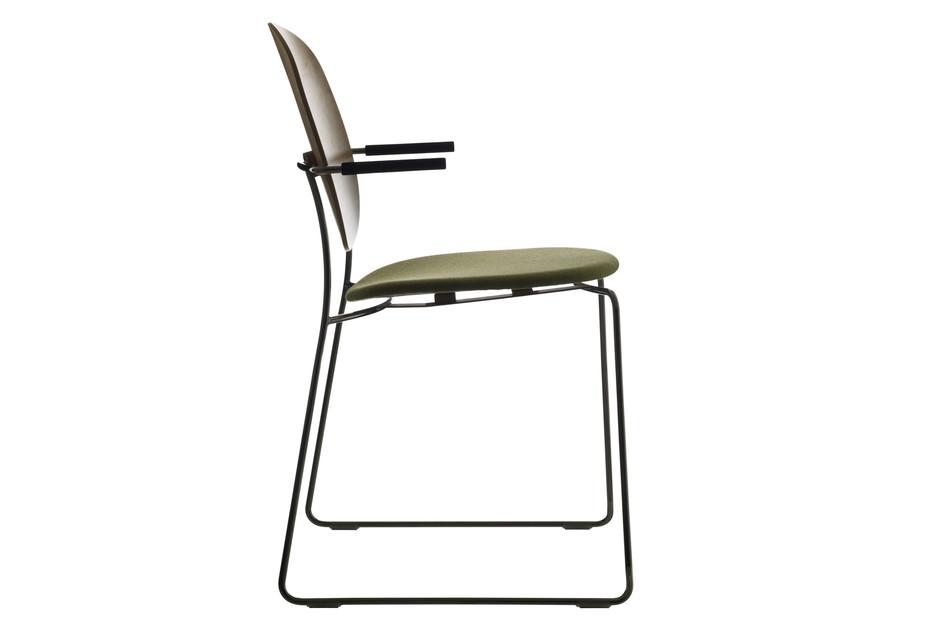 Olive  armrest-chair