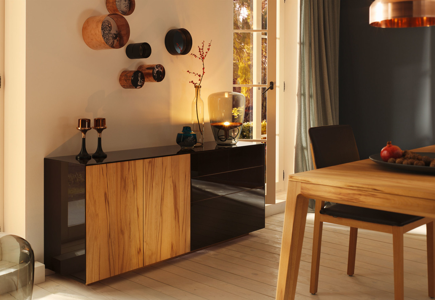 cubus pure high sideboard by team 7 stylepark. Black Bedroom Furniture Sets. Home Design Ideas