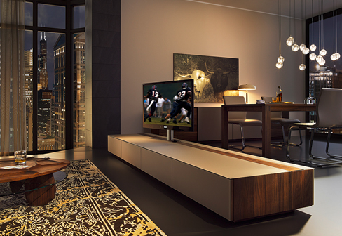 cubus pure home entertainment room divider by team 7 stylepark. Black Bedroom Furniture Sets. Home Design Ideas