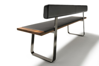 nox bench with backrest  by  TEAM 7