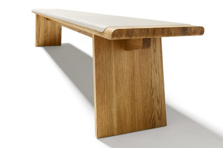 nox bench with wooden panels  by  TEAM 7