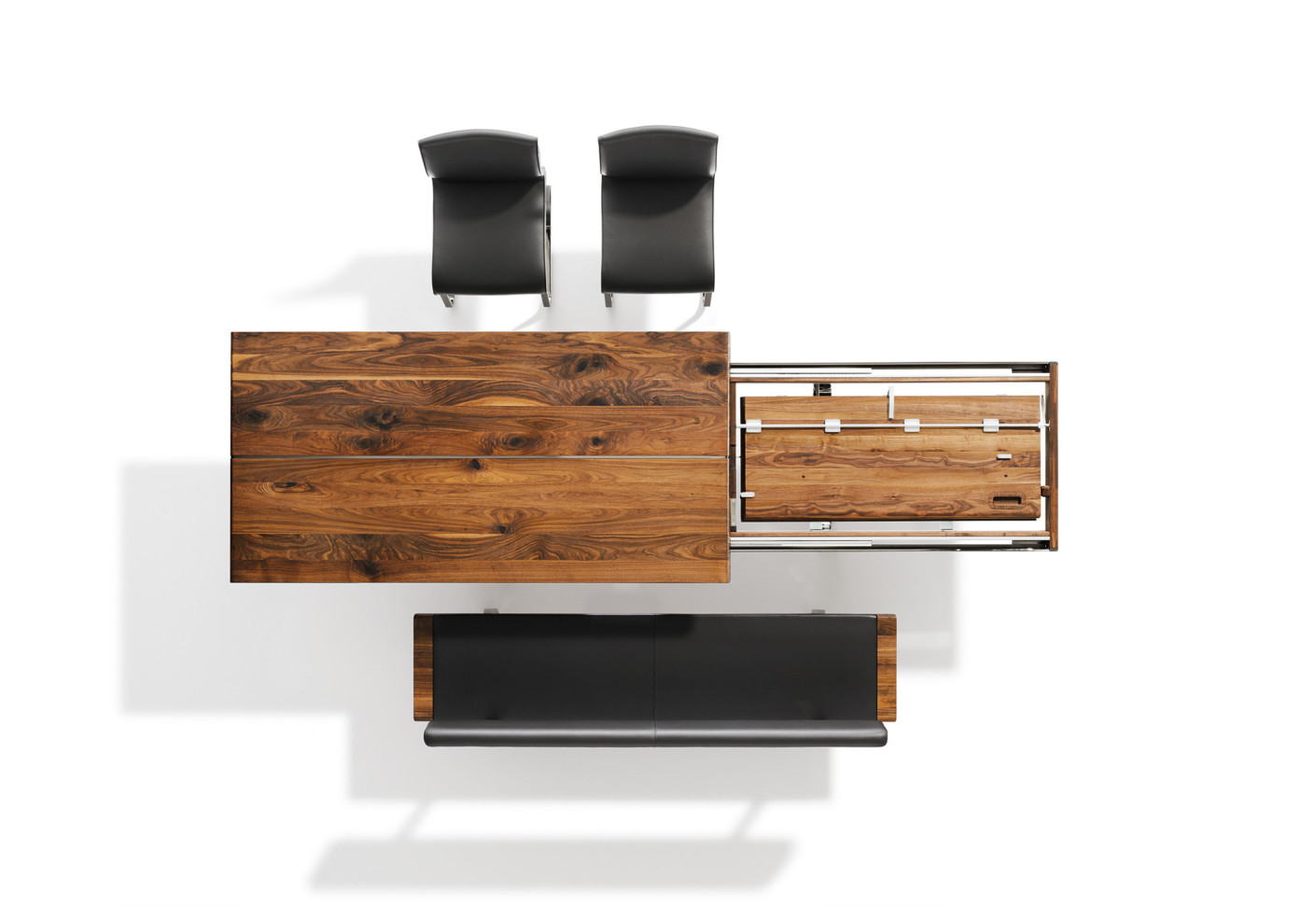 nox ausziehtisch von team 7 stylepark. Black Bedroom Furniture Sets. Home Design Ideas