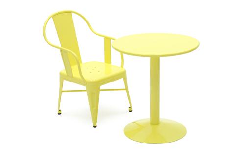 cigogne pedestal table by tolix stylepark. Black Bedroom Furniture Sets. Home Design Ideas
