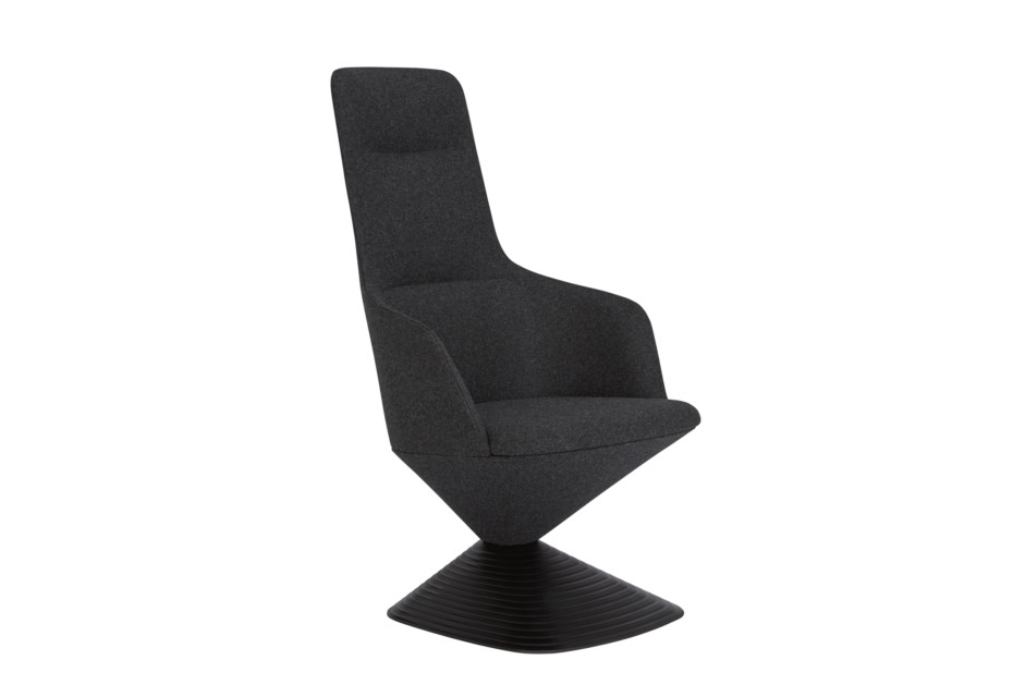 Pivot armchair high-back