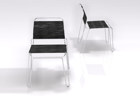 Rubber Band Chair by Tom Dixon