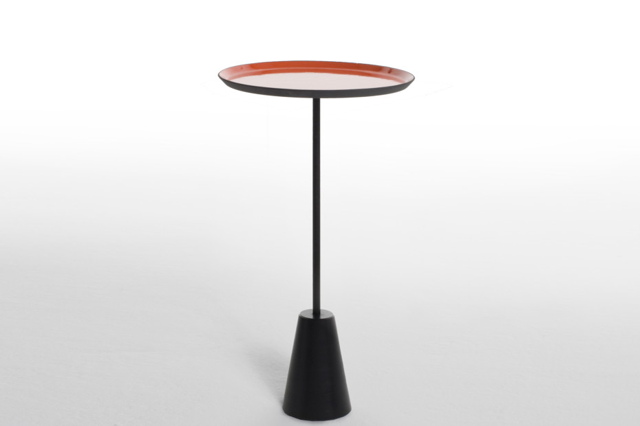 Spot table red round