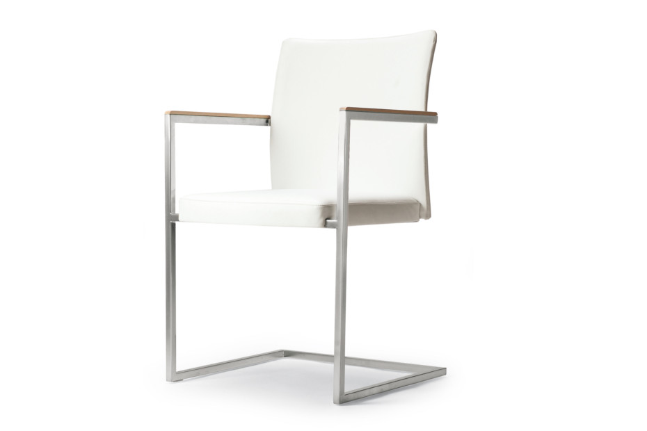 Brand cantilever chair with armrests