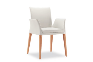Ensemble Wood with armrests  by  Tonon