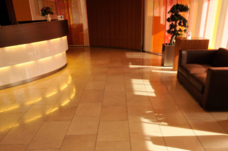 Carthago lime stone floor  by  TRACO Manufactur
