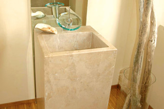 Carthago lime stone indoor precision work  by  TRACO Manufactur