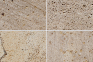 Korinth sandstone grinded mallowred  by  TRACO Manufactur