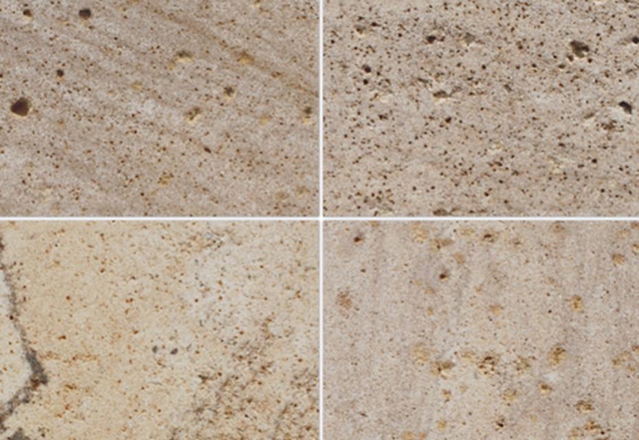 Korinth Sandstein geschliffen malvenrot