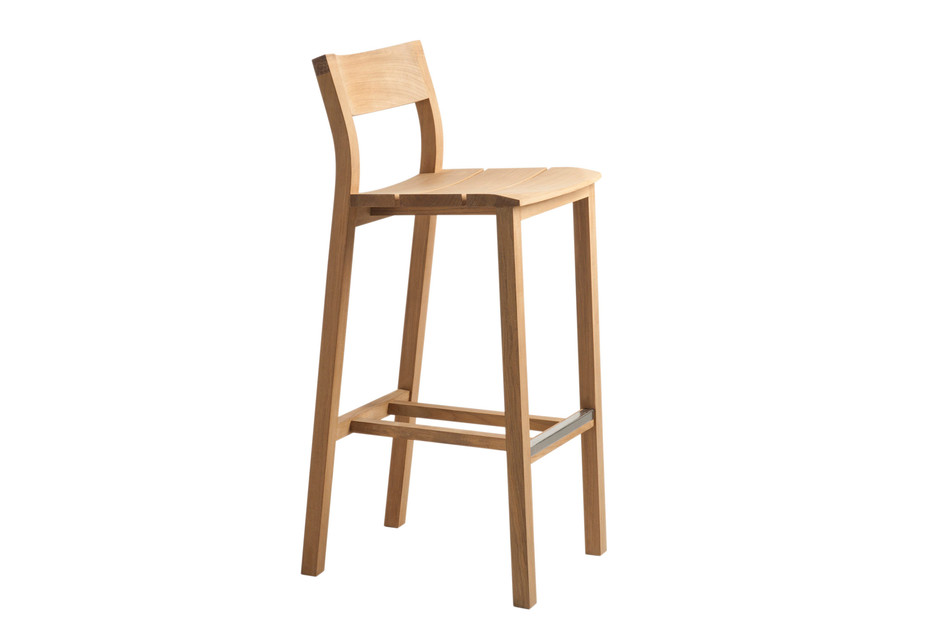 Kos teak bar stool