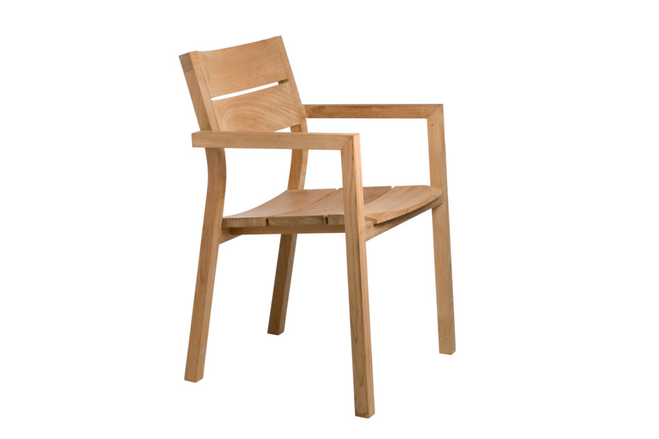 Kos teak chair with armrests