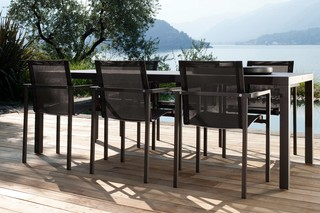 Natal Alu chair with armrests  by  Tribù