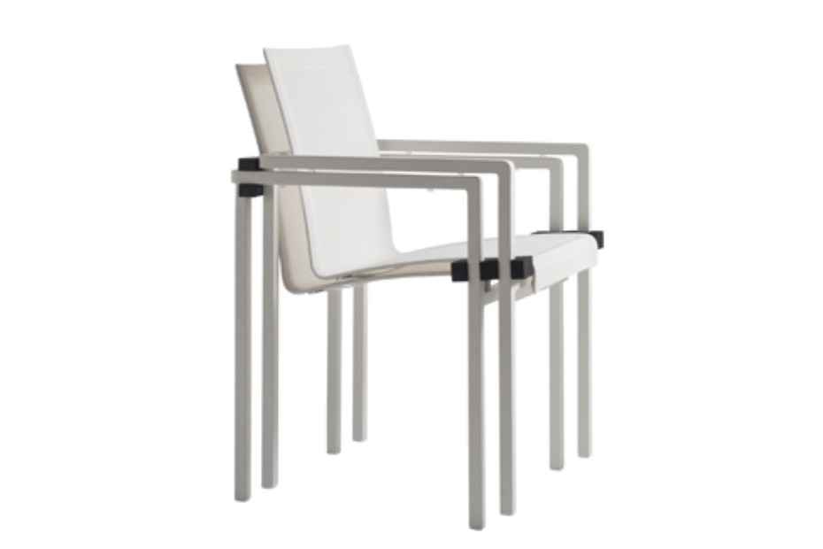 Natal Alu chair with armrests