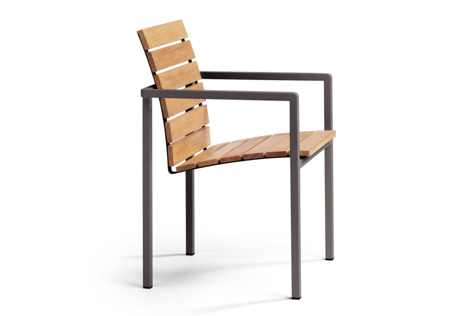 Natal Alu teak chair with armrests