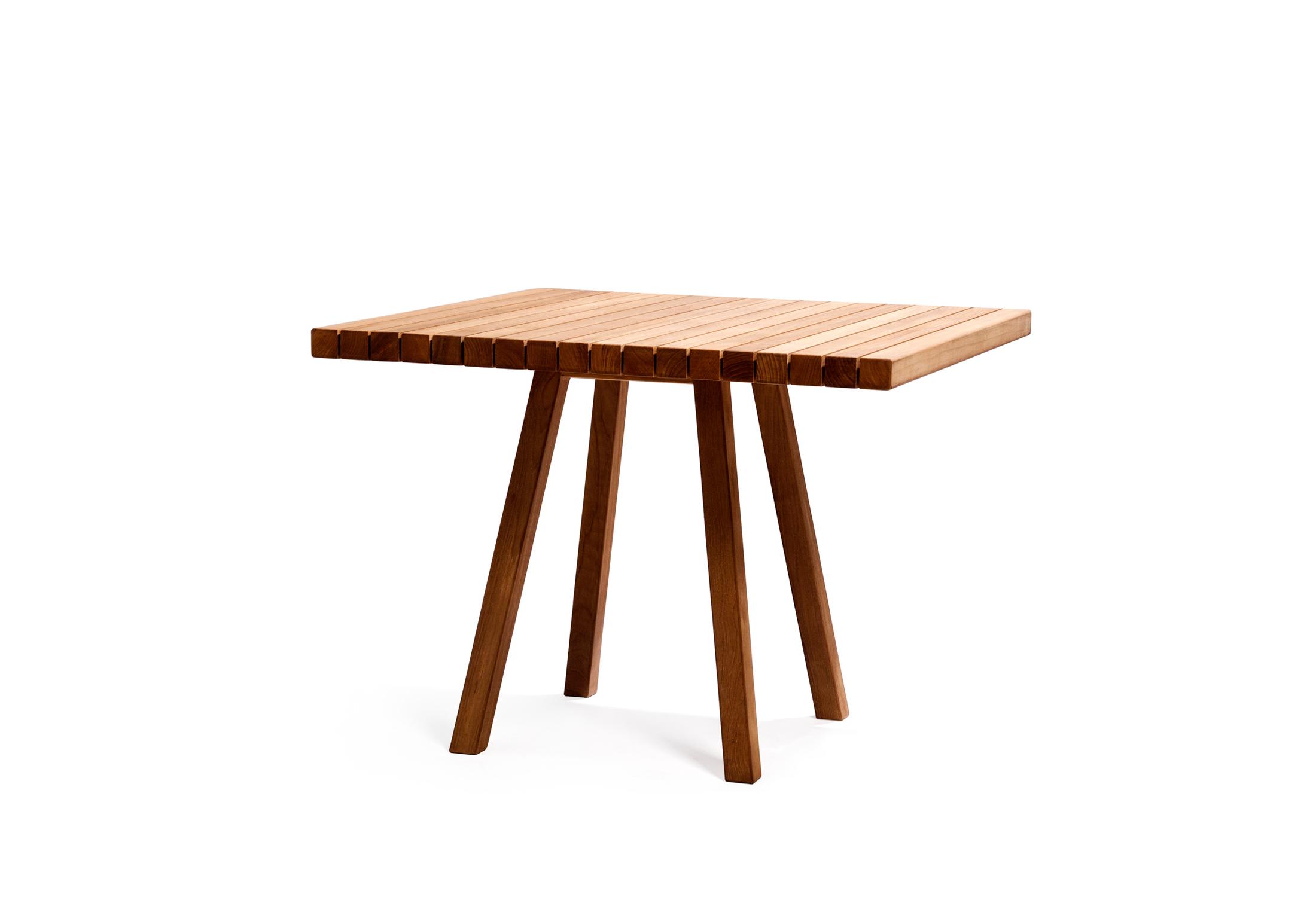 Vis à Vis square table by Tribù | STYLEPARK