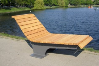 49er Promenade lounger  by  UNION - public & street furniture