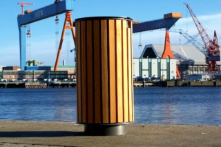 Aurora litter bin  by  UNION - public & street furniture