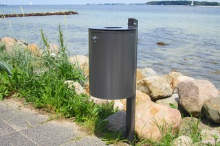 Focus litter bin  by  UNION - public & street furniture