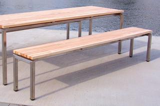 Madison INOX bench  by  UNION - public & street furniture