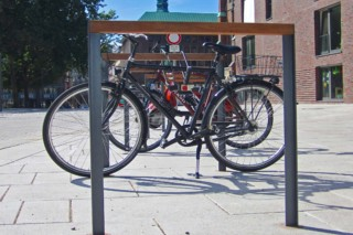 Steelwood bike rack Hermes  by  UNION - public & street furniture