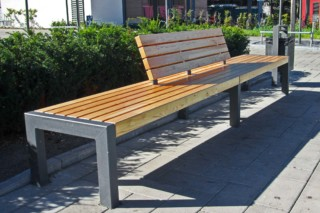 Vario-bench Leander  by  UNION - public & street furniture