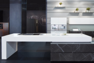 Unique limestone / corian  by  Unique by Eggersmann