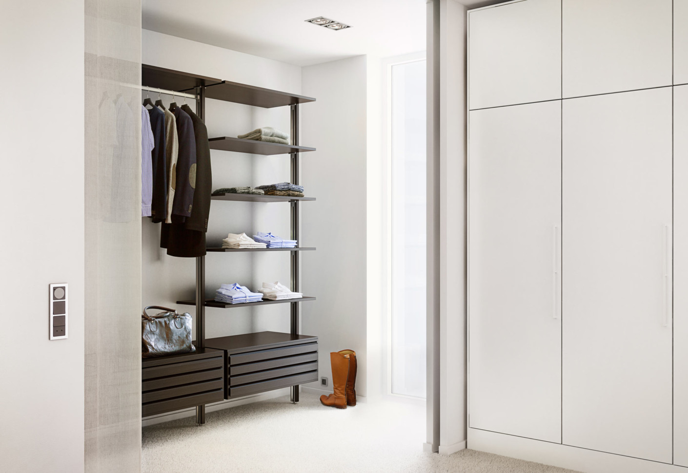 C serie garderobe black oak von uno form stylepark for Garderobe job