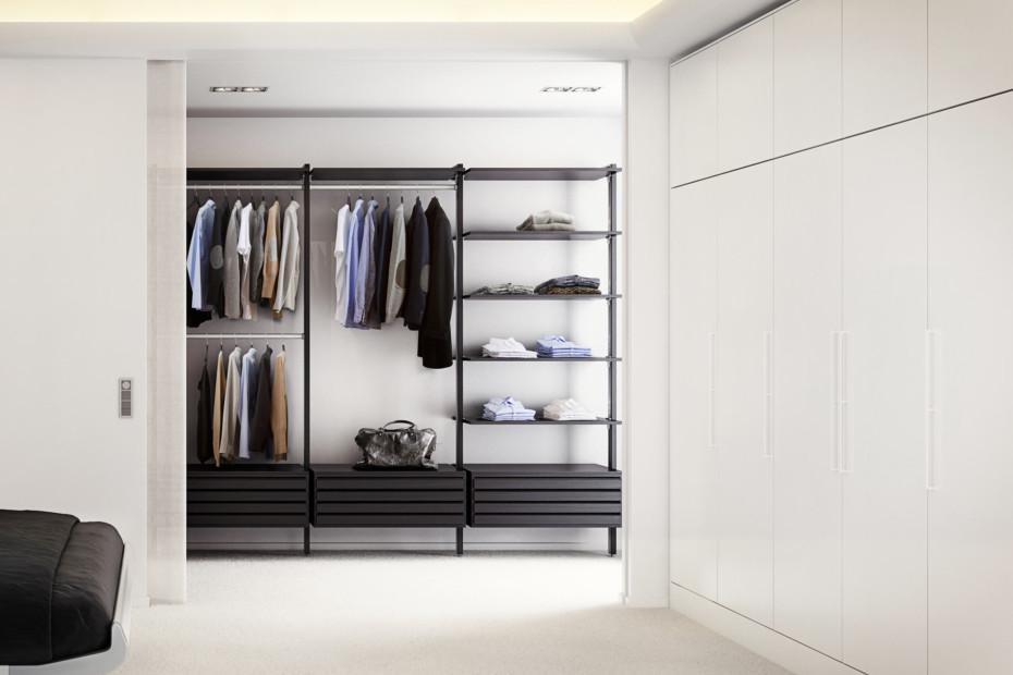 C-Serie Garderobe Black Oak