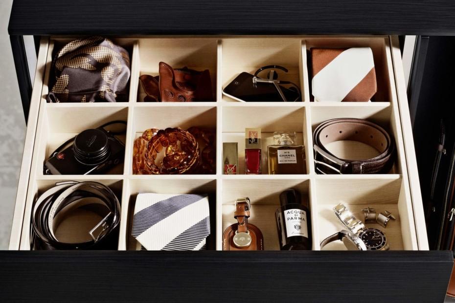 C-Serie wardrobe Black Oak