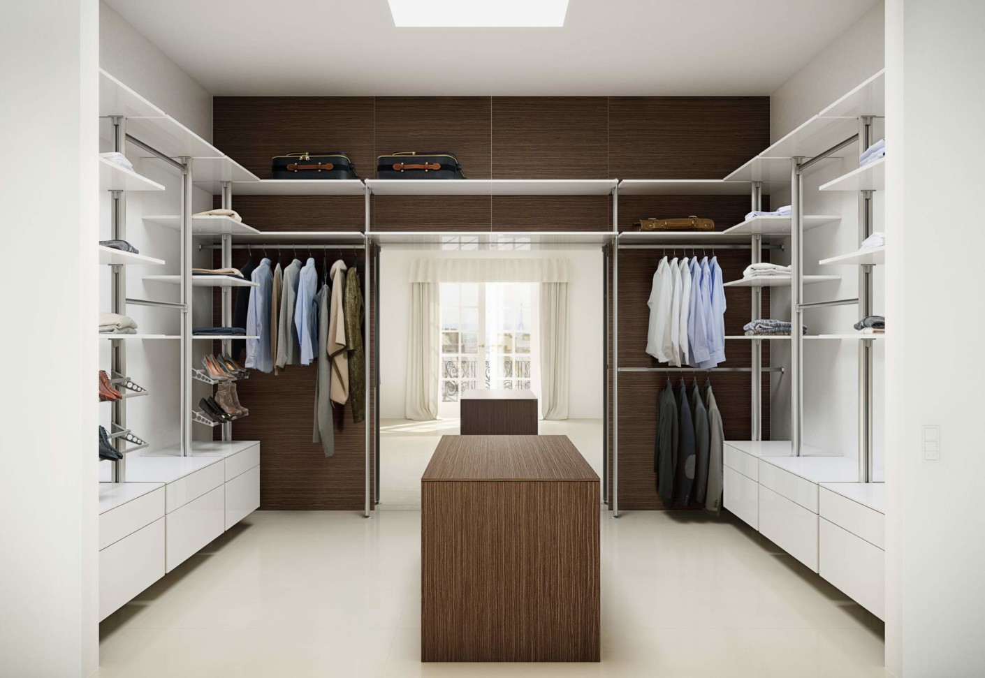 U serie wardrobe glacier white by uno form stylepark for Chambre walk in