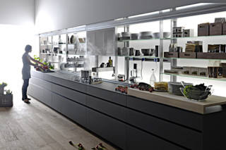 Artematica Vitrum Grey Cement  by  Valcucine