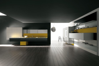 Artematica Vitrum yellow  by  Valcucine