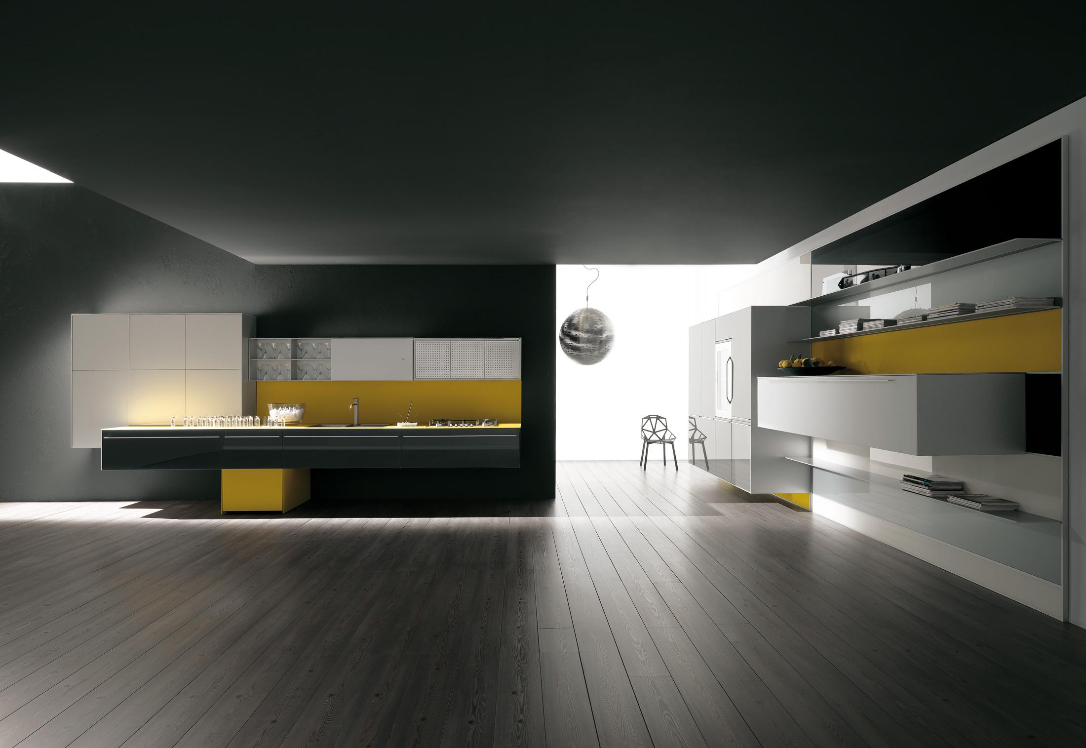 Artematica Vitrum yellow by Valcucine | STYLEPARK
