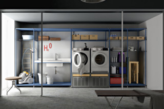 Laundry shelf system  by  Valcucine
